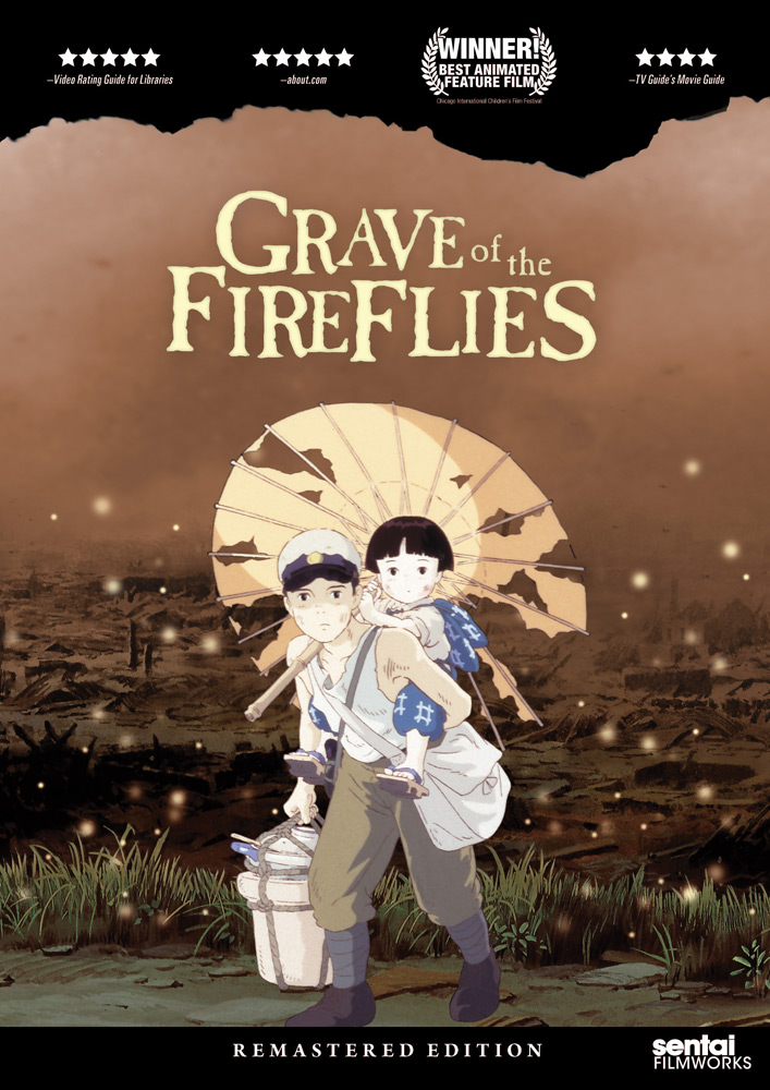 Grave of the Fireflies Remastered Edition DVD 814131012623