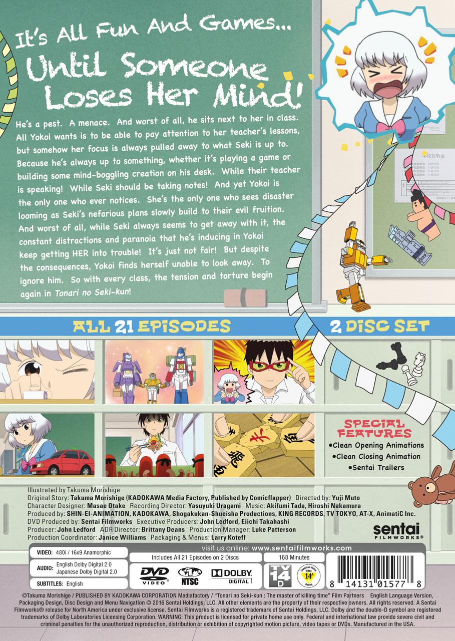 Tonari no Seki-kun The Master of Killing Time DVD