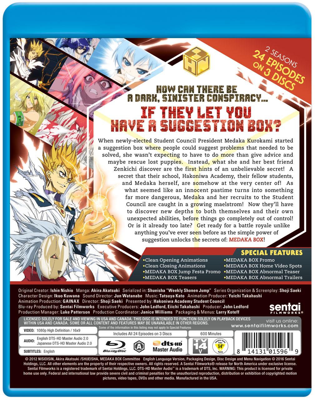 MEDAKA BOX Complete Collection Blu-ray