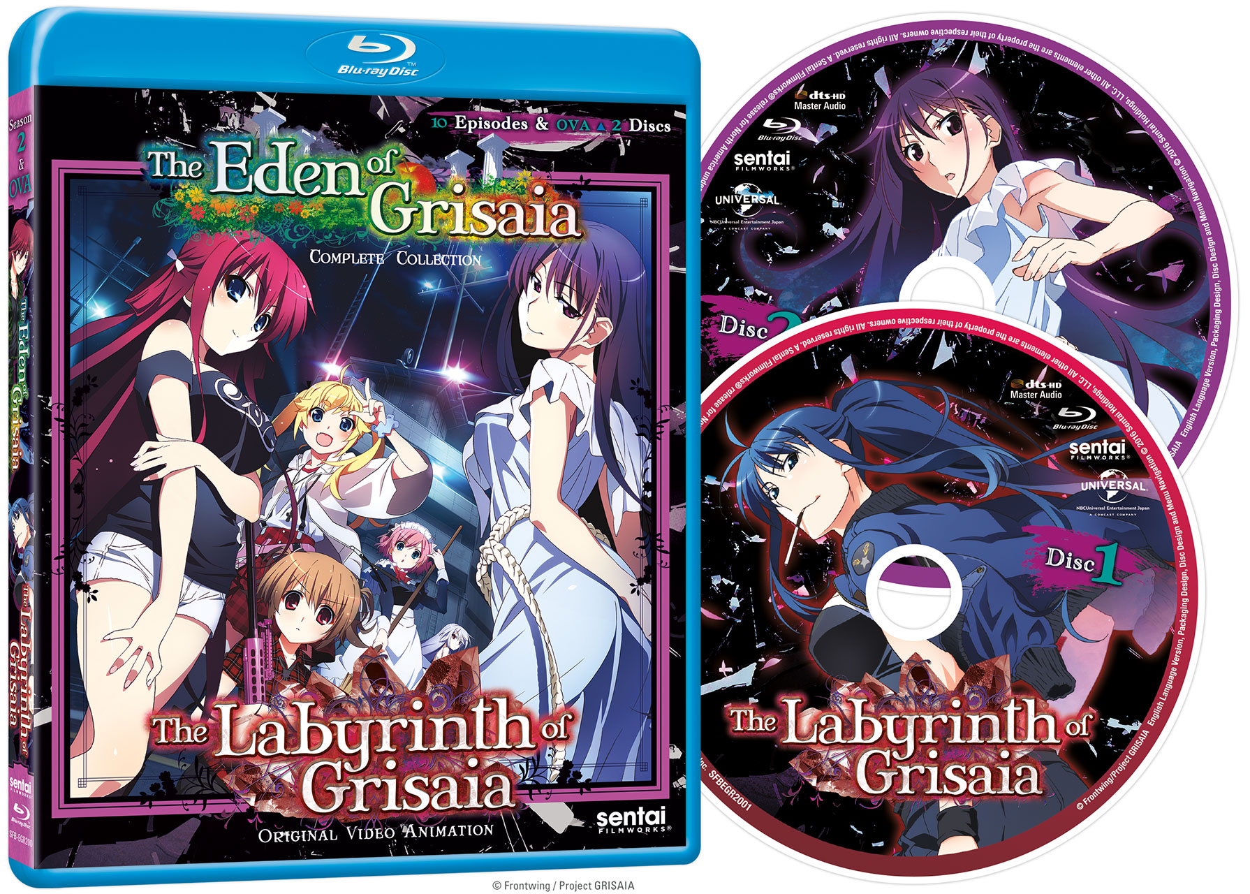 Labyrinth of Grisaia + Eden of Grisaia Blu-ray