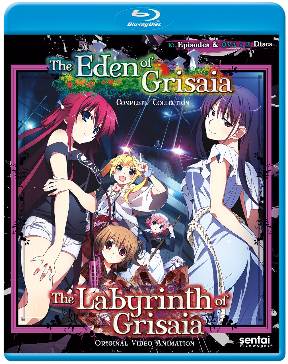 Labyrinth of Grisaia + Eden of Grisaia Blu-ray 814131016294