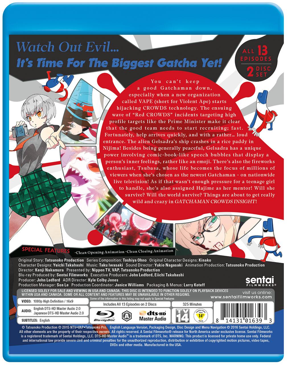 Gatchaman Crowds insight Blu-ray