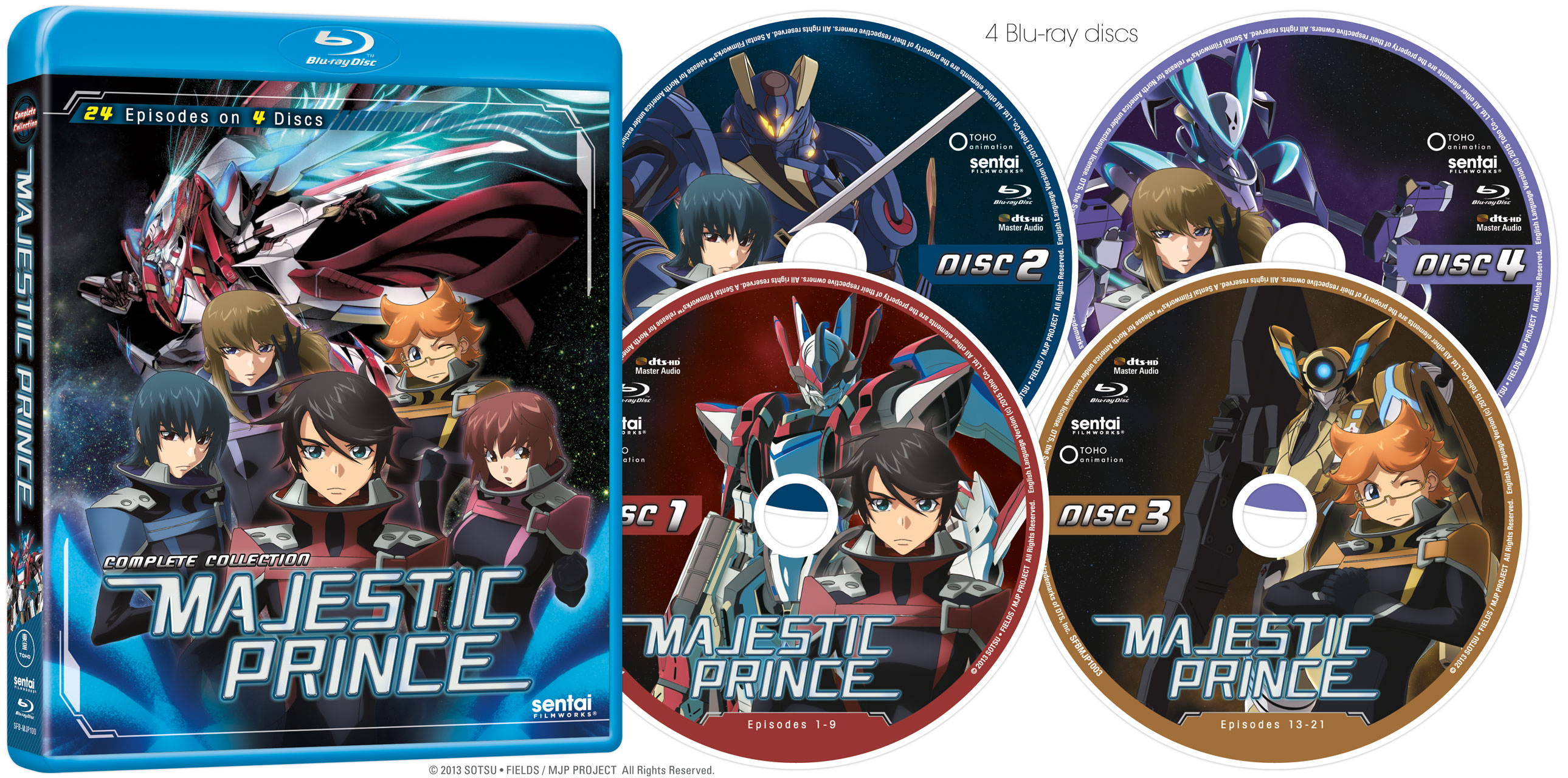Majestic Prince Complete Collection Blu-ray