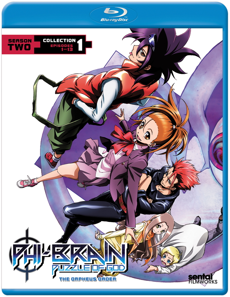Phi-Brain The Puzzle of God Season 2 Orpheus Order Collection 1 Blu-ray 814131016935