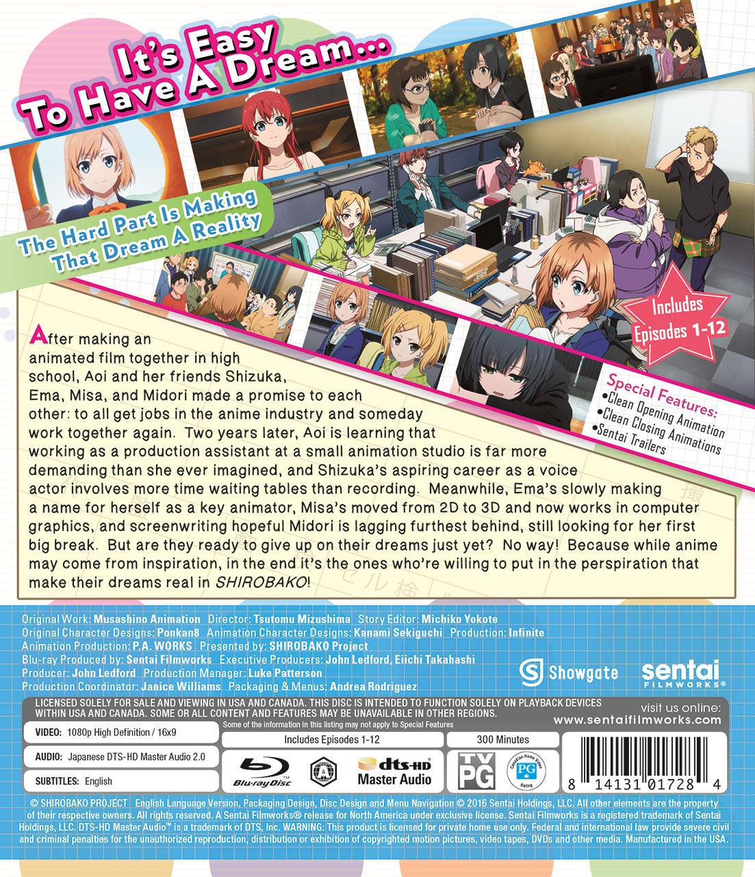 Shirobako Collection 1 Blu-ray