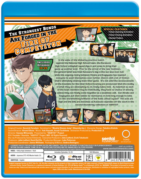 Haikyu!! Season 1 Collection 2 Blu-ray
