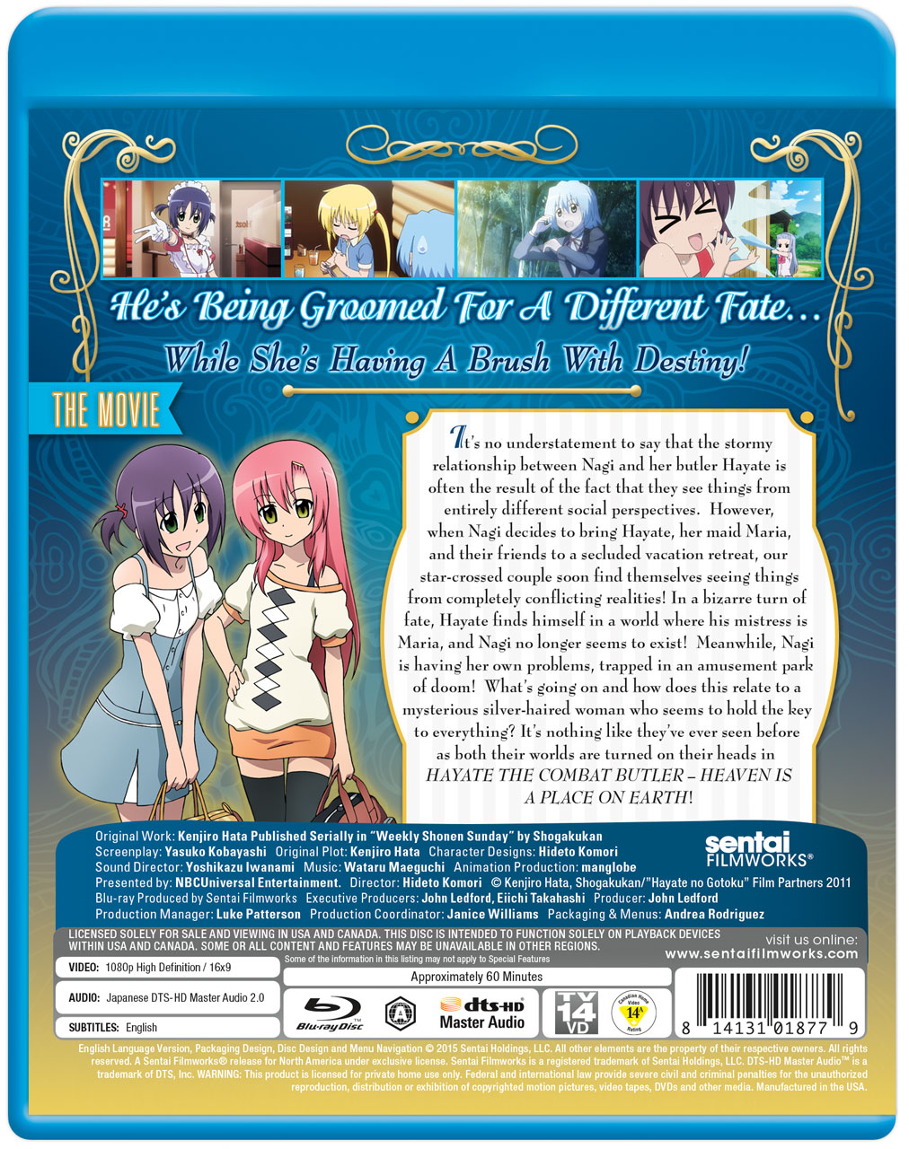 Hayate the Combat Butler Heaven is a Place on Earth Blu-ray