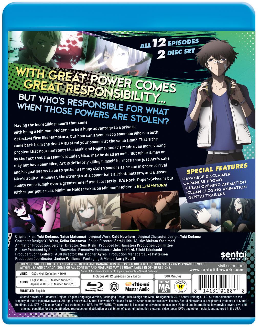 RE: Hamatora the Animation Season 2 Blu-ray