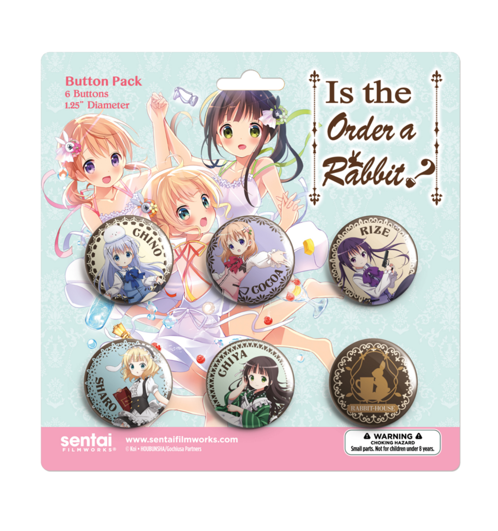 Is the Order a Rabbit? Buttons 6-Pack 814548022413
