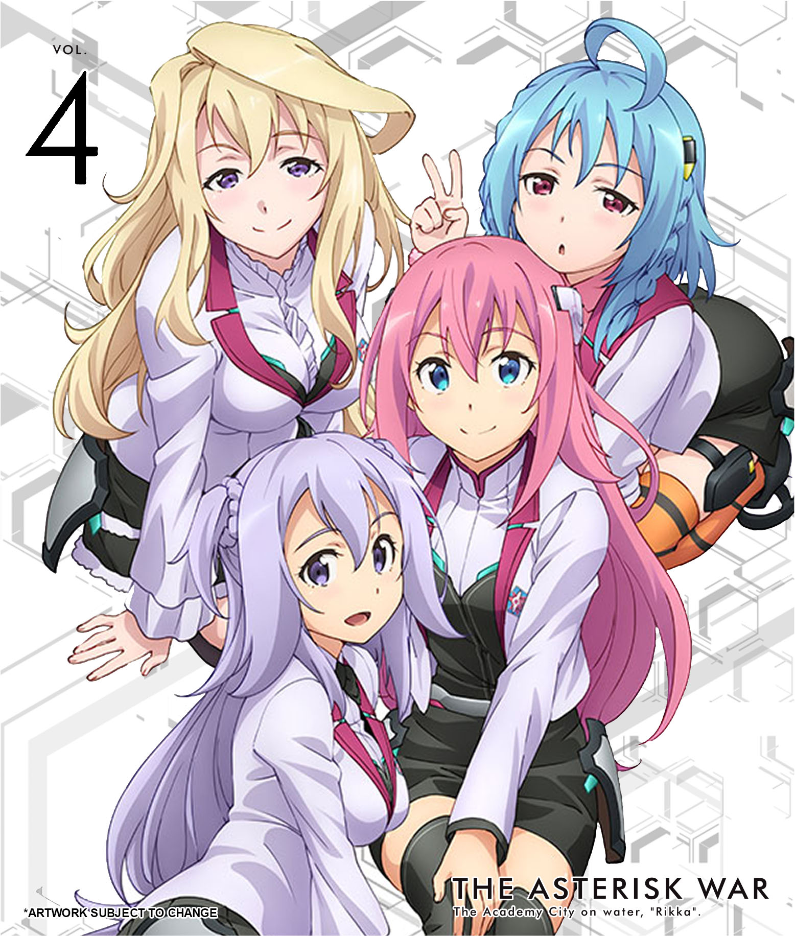 The Asterisk War Volume 4 Limited Edition Blu-ray 816546020354