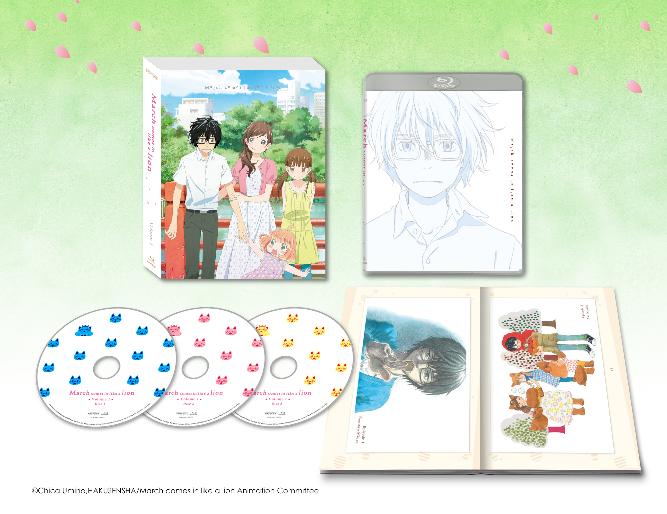 March Comes in Like a Lion Volume 1 Blu-ray