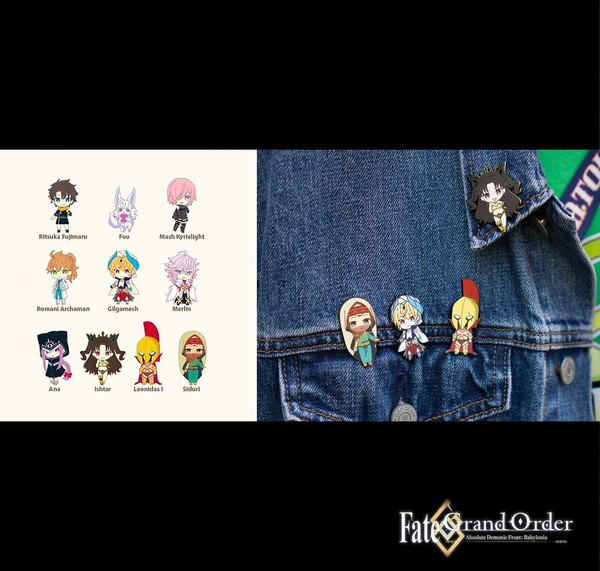 1st Edition Fate/Grand Order Absolute Demonic Front: Babylonia Collectible Pins