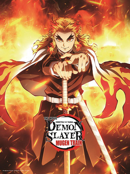 Demon Slayer Kimetsu no Yaiba The Movie Mugen Train Wall Scroll A