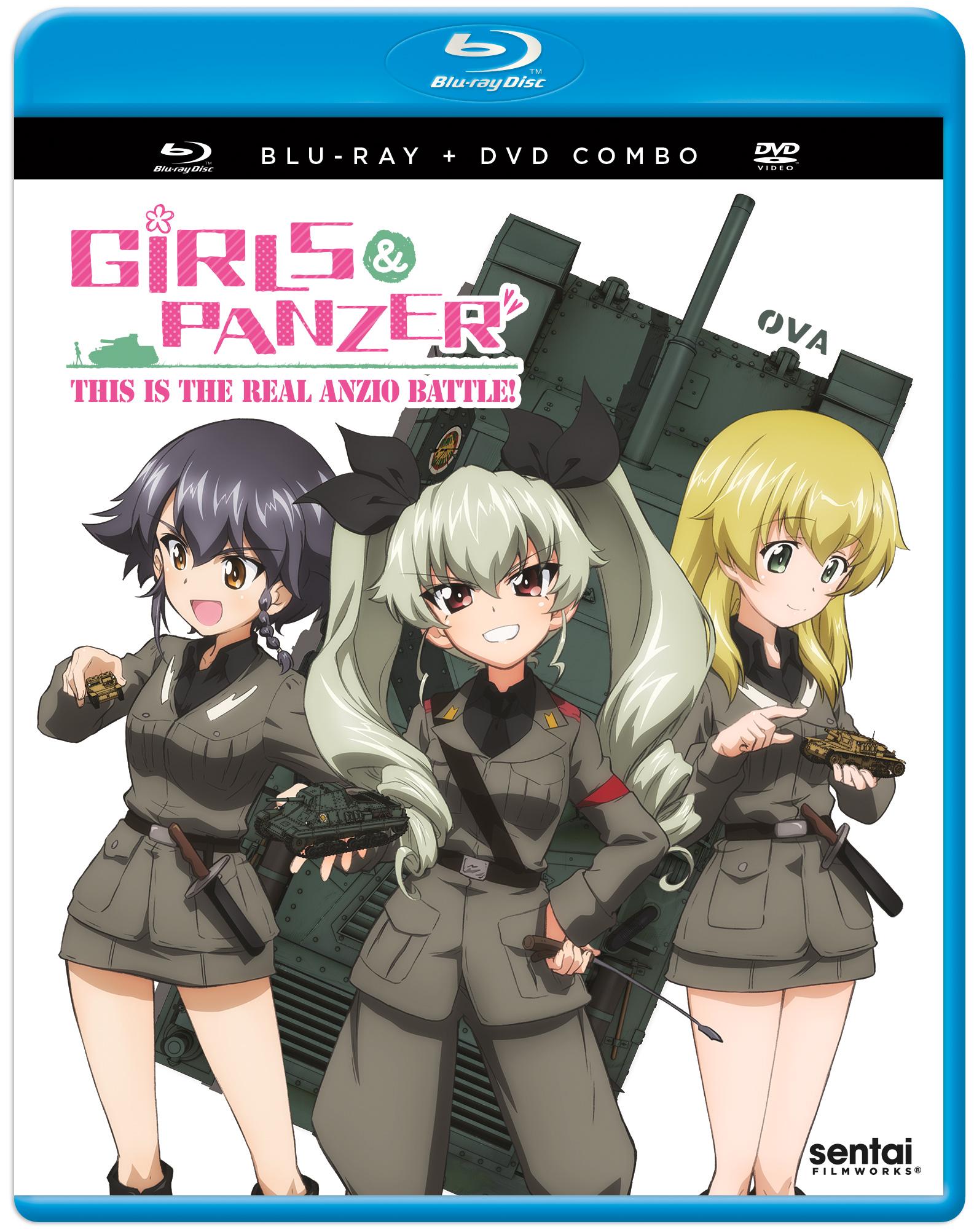 Girls und Panzer This Is The Real Anzio Battle Blu-ray/DVD 816726025407