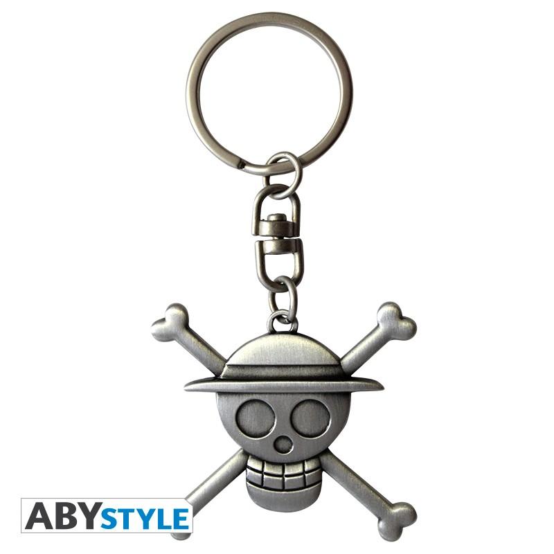 Monkey D Luffy Jolly Roger One Piece Metal Keychain