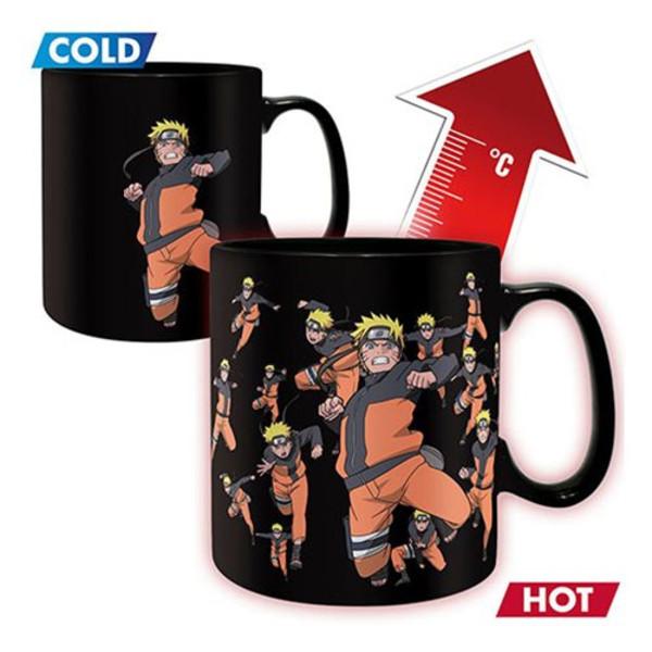 Clone Jutsu Heat Changing Mug & Coaster Naruto Shippuden Gift Set