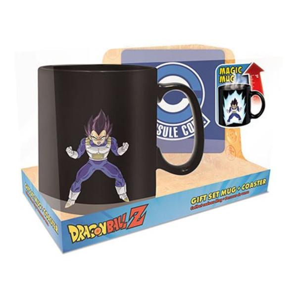 Vegeta Heat Changing Mug & Coaster Dragon Ball Z Gift Set