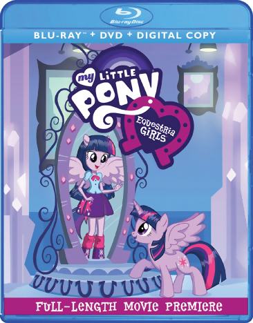 My Little Pony Friendship is Magic the Movie Equestria Girls Blu-ray/DVD 826663142150