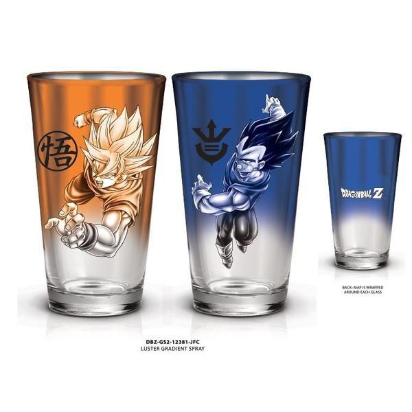 Goku and Vegeta Dragon Ball Z Pint Glass Set (2 pack)