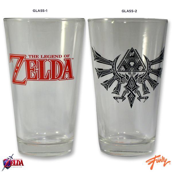 The Legend of Zelda Pint Glass Set (2 pack) 841092108065