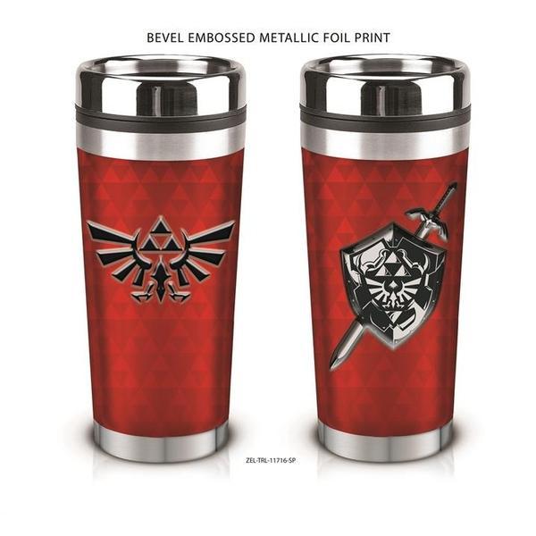 Red Legend of Zelda Stainless Steel Travel Mug