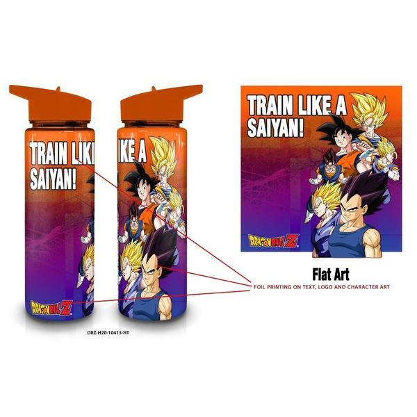 Saiyan Dragon Ball Z Plastic Water Bottle