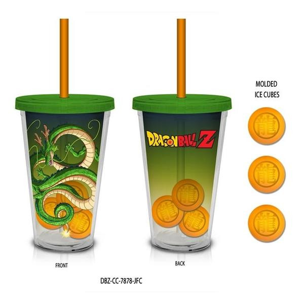 Shenron Dragon Ball Z Travel Cup with Molded Ice Cubes