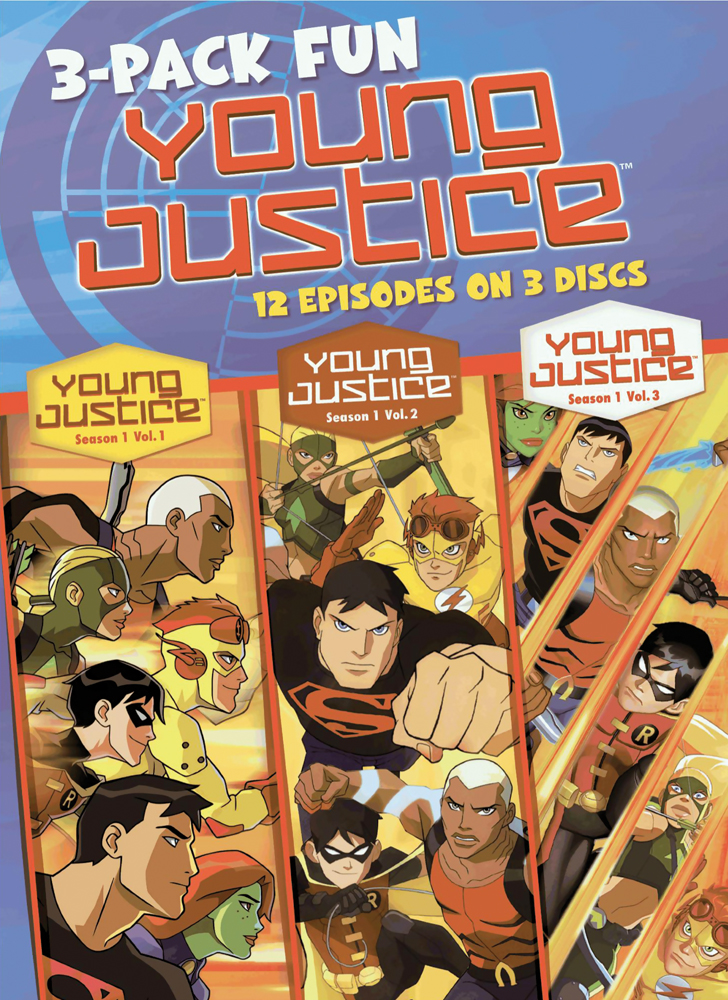Young Justice Season 1 3-Pack Fun DVD (Vols. 1-3) 883929227136