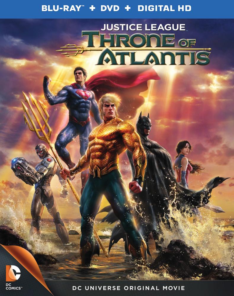 Justice League: Throne of Atlantis Blu-ray/DVD 883929366095