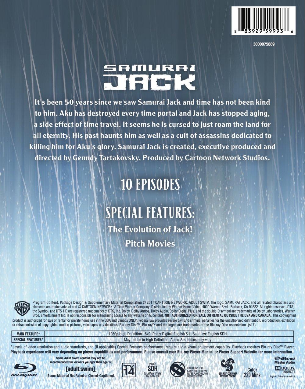 Samurai Jack Season 5 Blu-ray