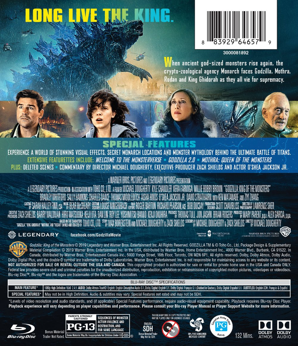 Godzilla King of the Monsters Blu-ray/DVD