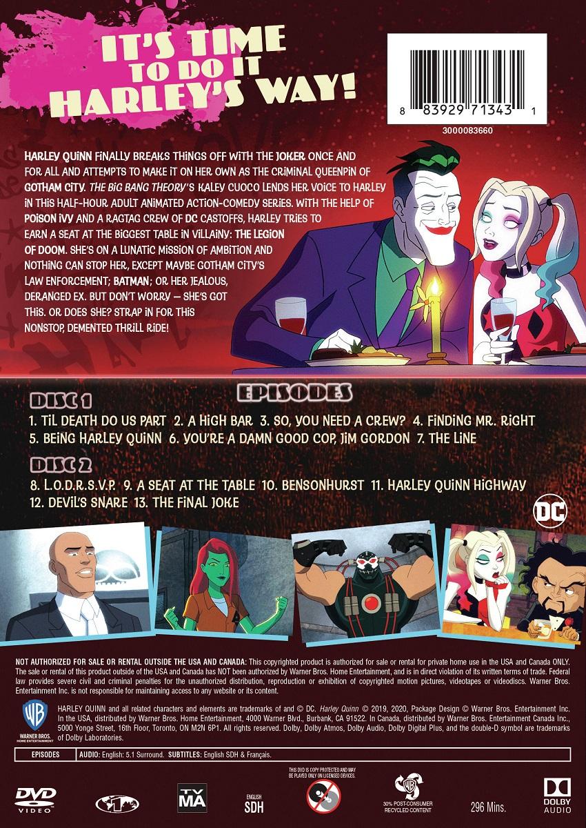 Harley Quinn Season 1 DVD