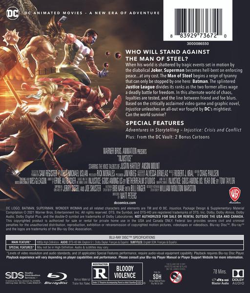 Injustice Blu-ray