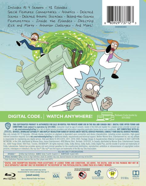 Rick and Morty Seasons 1-4 Blu-ray