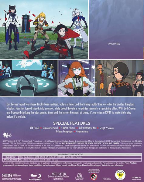 RWBY Volume 8 Blu-ray
