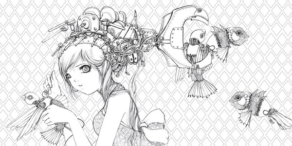 Pop Manga A Surreal Journey Through a Cute Curious Bizarre and Beautiful World Coloring Book