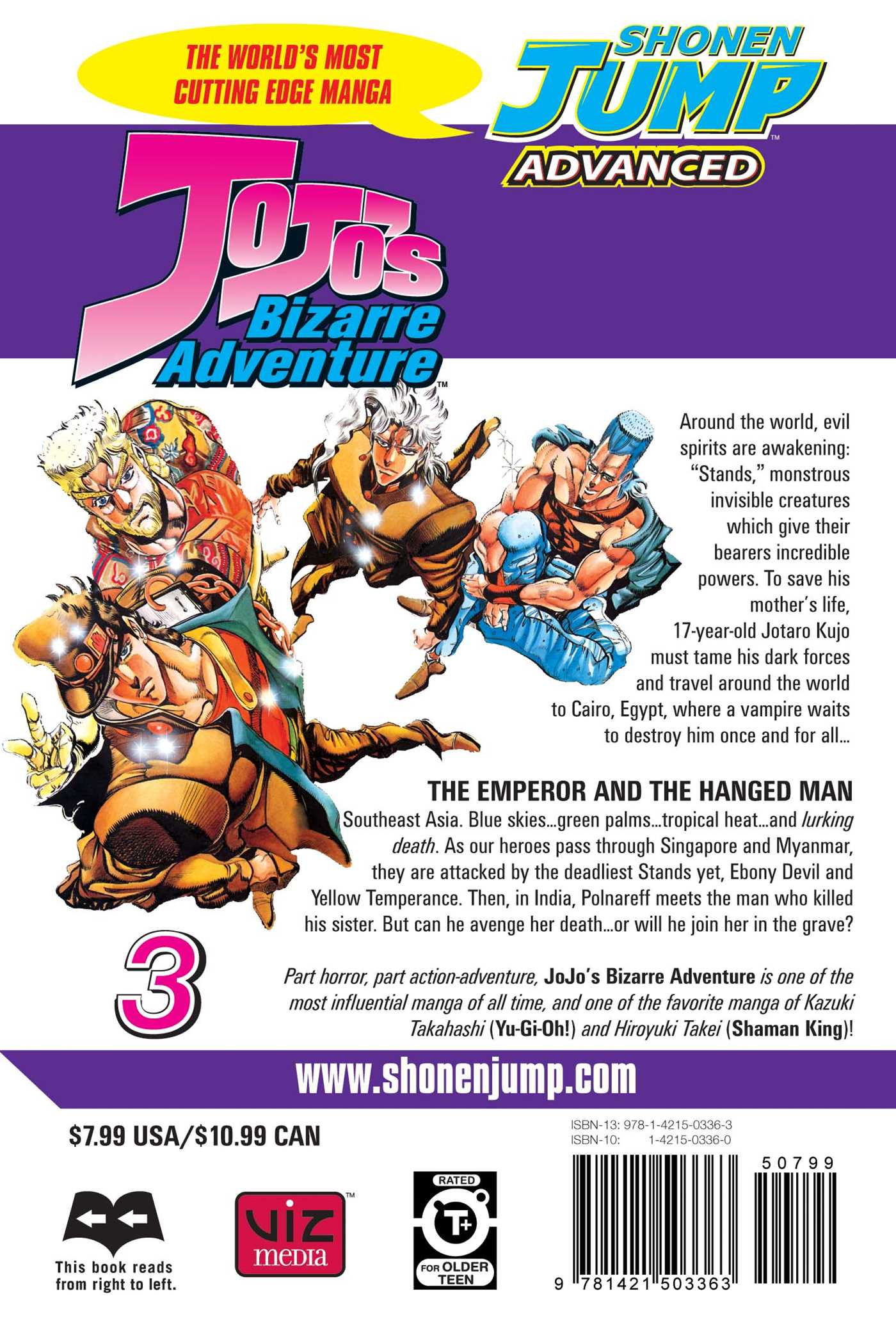 JoJo's Bizarre Adventure Manga Volume 3