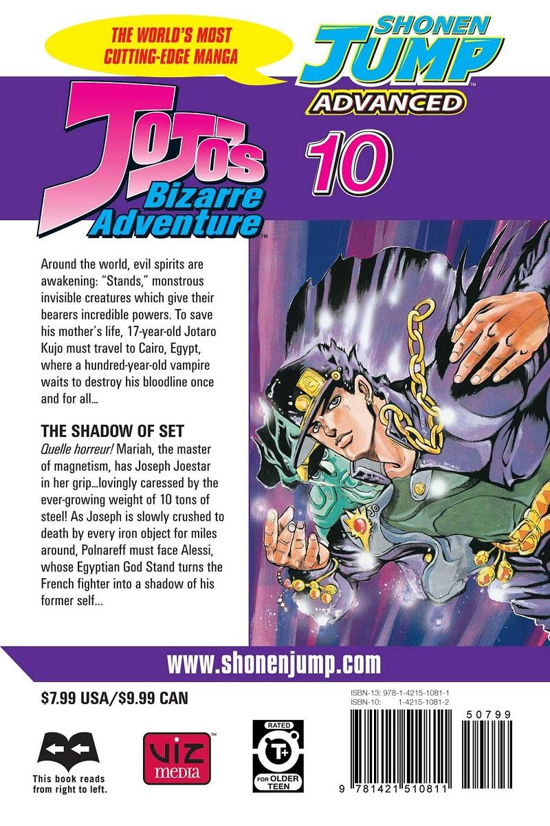 JoJo's Bizarre Adventure Manga Volume 10