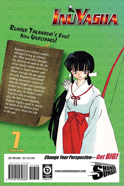 Inu Yasha 3 in 1 Edition Manga Volume 7