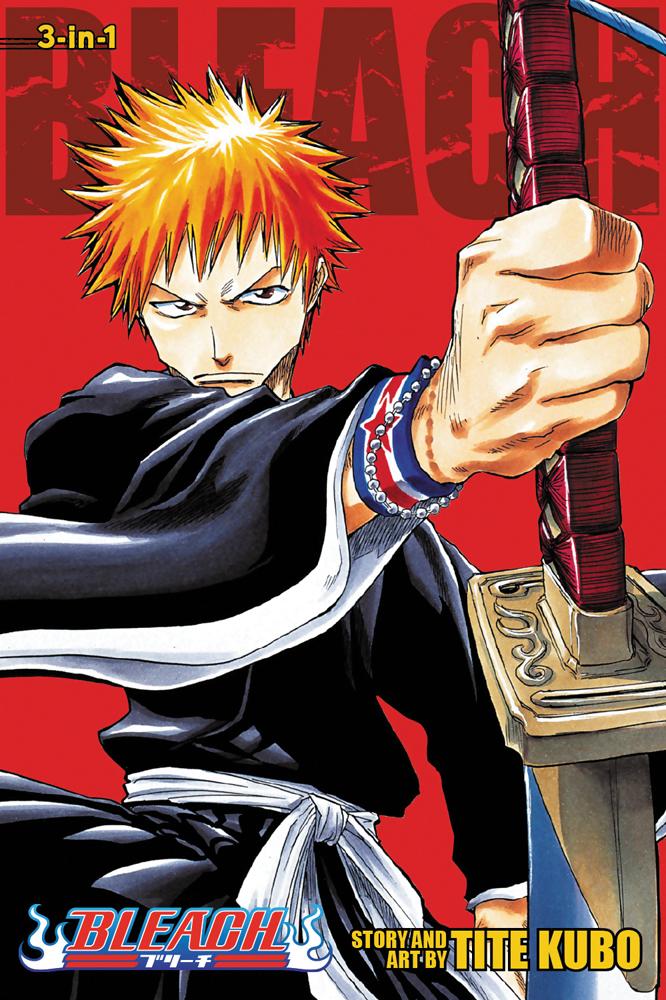 [7 Animes Indispensáveis] - Shounen Jump 9781421539928_manga-Bleach-Graphic-Novel-1-3-Omnibus-primary