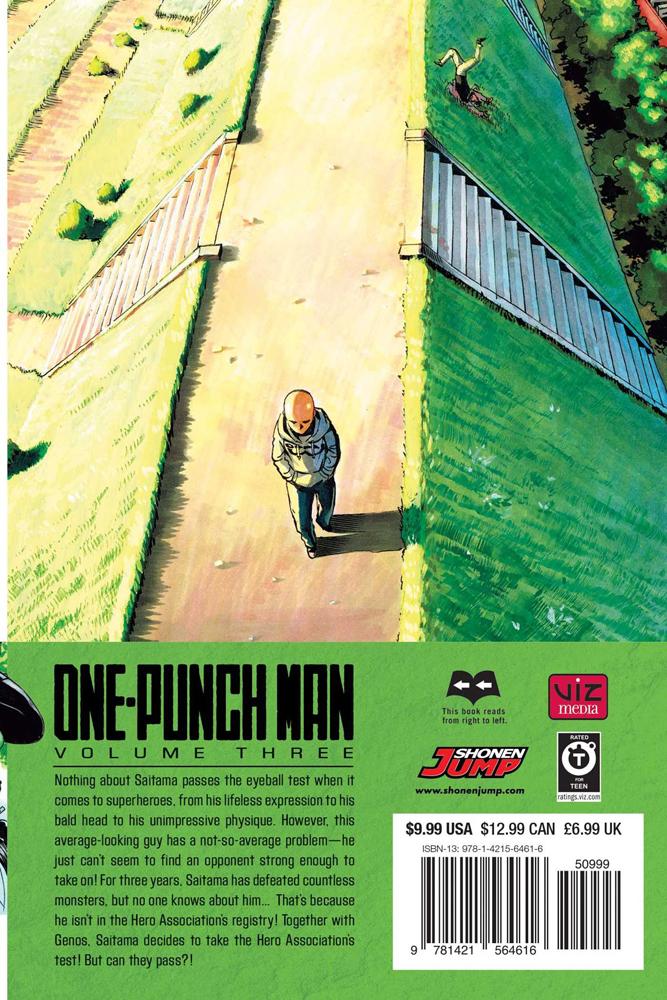 One-Punch Man Manga Volume 3