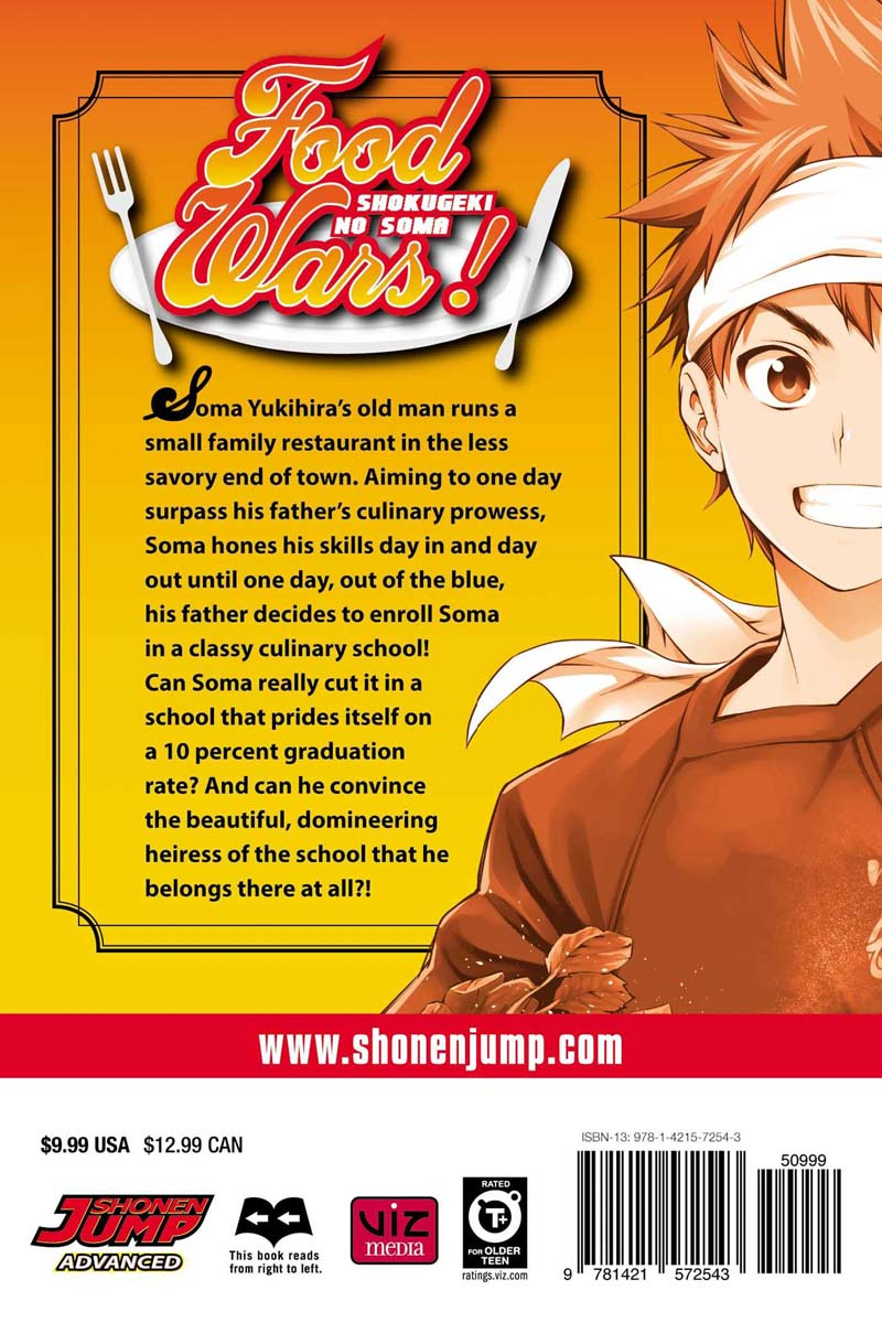 Food Wars Manga Volume 1