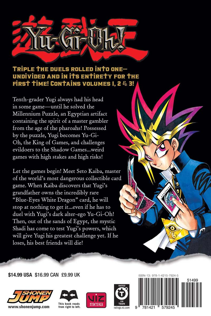 Yu-Gi-Oh! 3 in 1 Edition Manga Volume 1