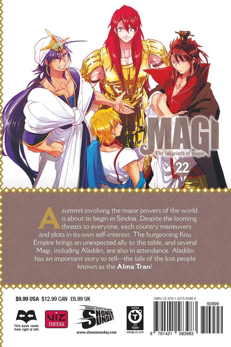 Magi Manga Volume 22