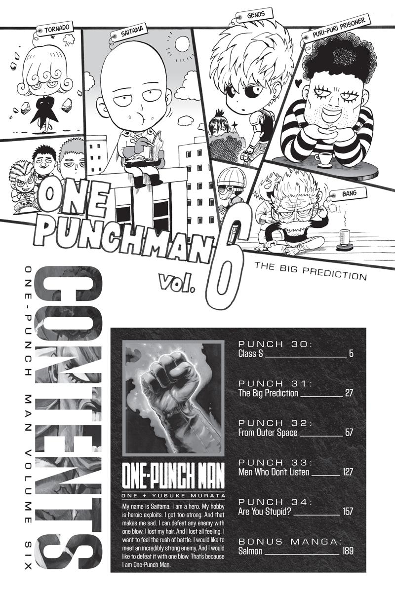 One-Punch Man Manga Volume 6