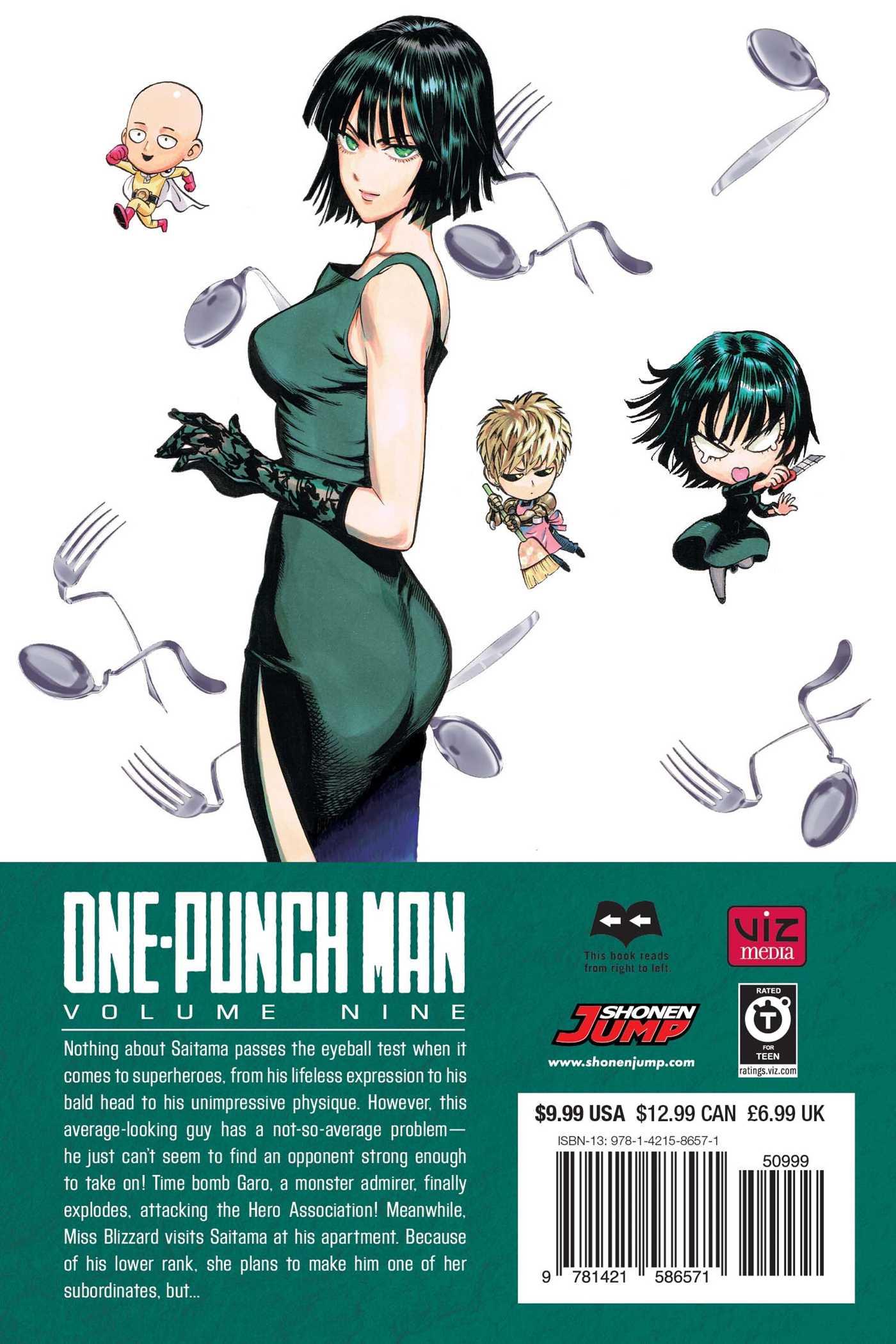 One-Punch Man Manga Volume 9