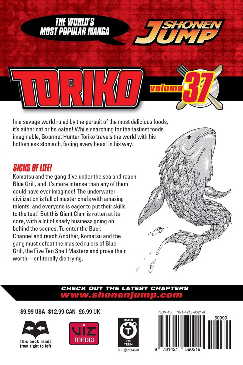 Toriko Manga Volume 37