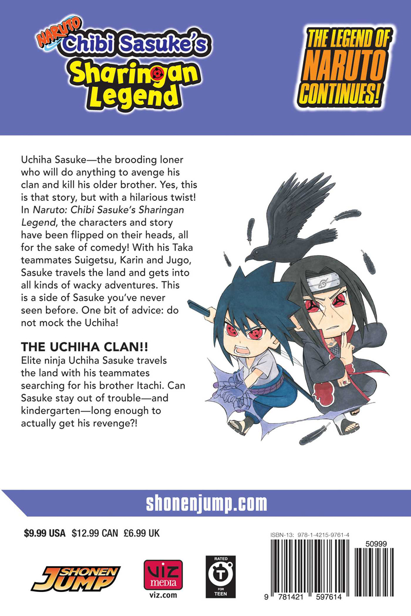 Naruto Chibi Sasuke's Sharingan Legend Manga Volume 3