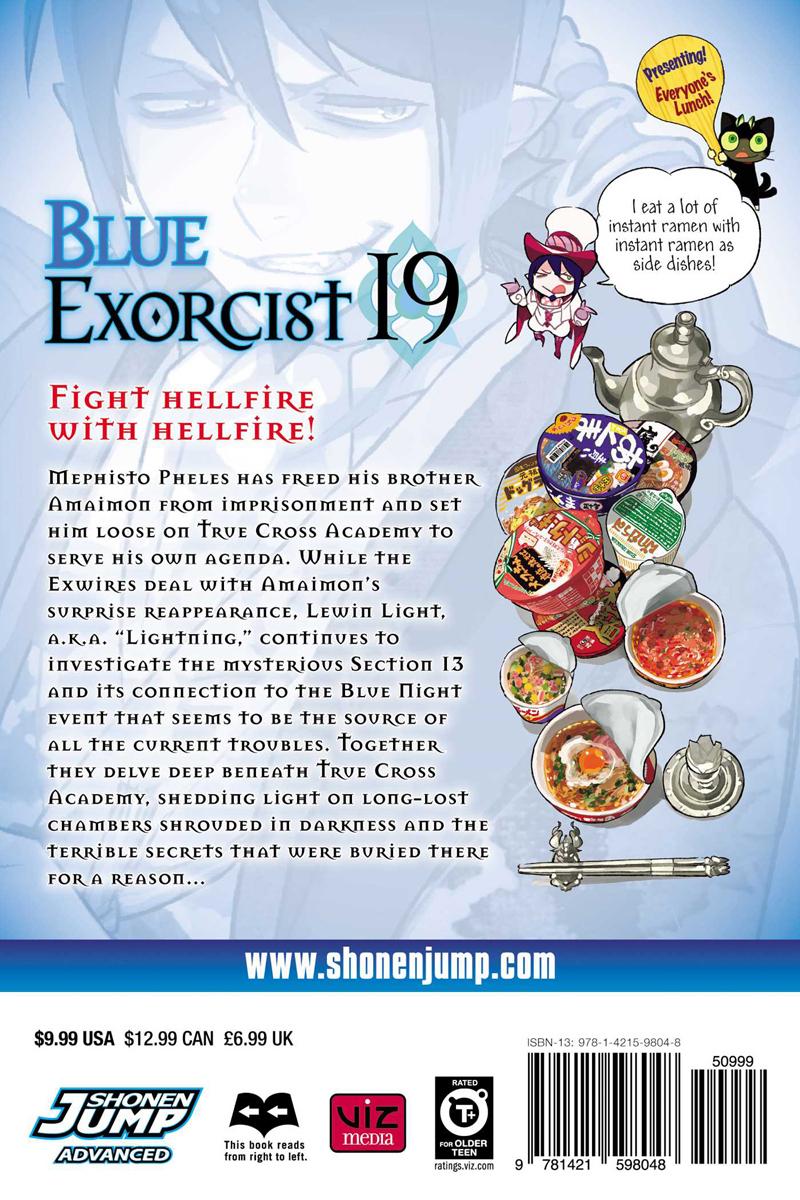 Blue Exorcist Manga Volume 19