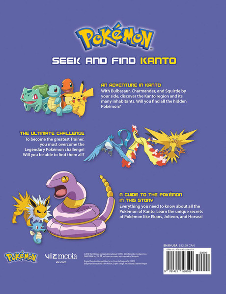 Pokemon Seek and Find Kanto Activity Book